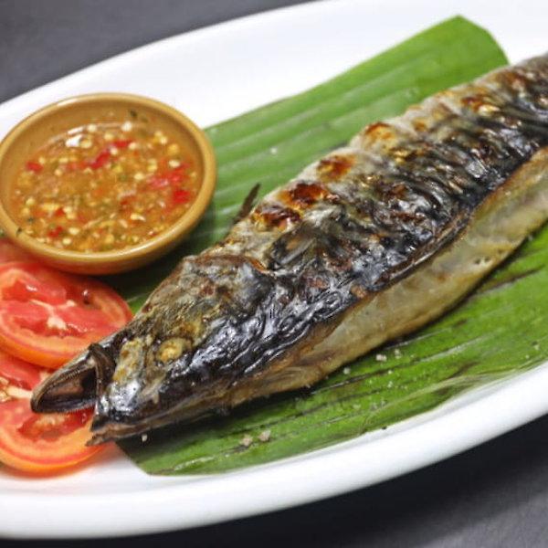Saba Grilled Fish & Grilled vegetables