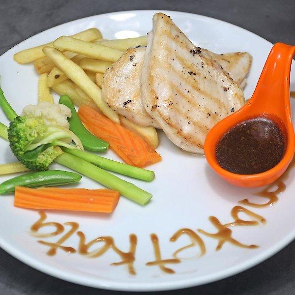 Chicken Steak (200 g) with French Fries