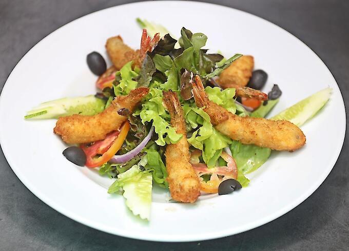 Deep Fried Shrimp Salad
