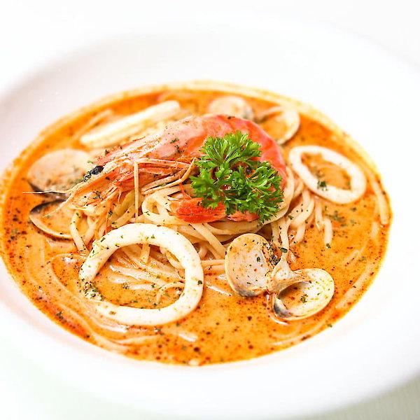 Tom-yum Seafood Spaghetti