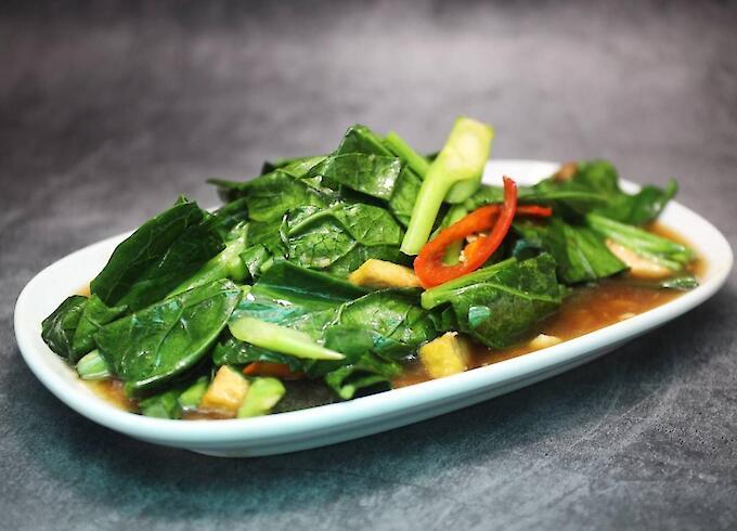 Stir-Fried Kale with Tofu