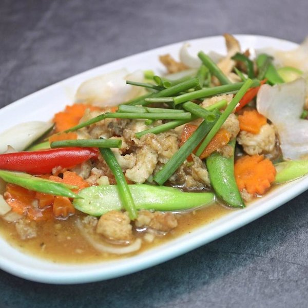 Stir-fried Chicken with green onions