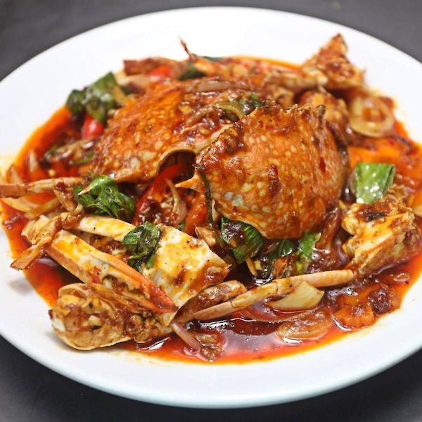 Stir-Fried Blue Crab with Chilli Paste