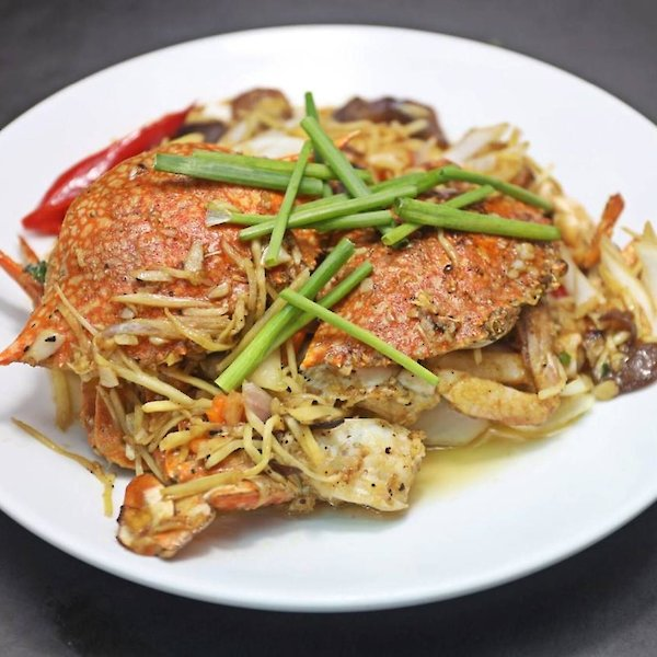 Stir-Fried Blue Crab with Ginger