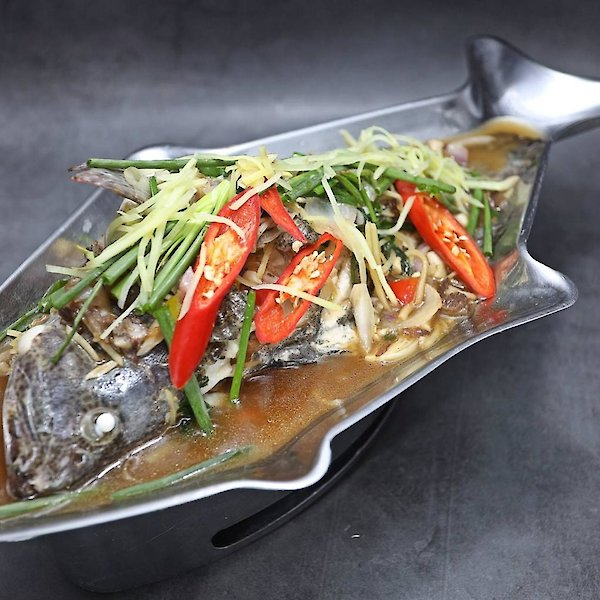 Steamed Grouper with Ginger Sauce