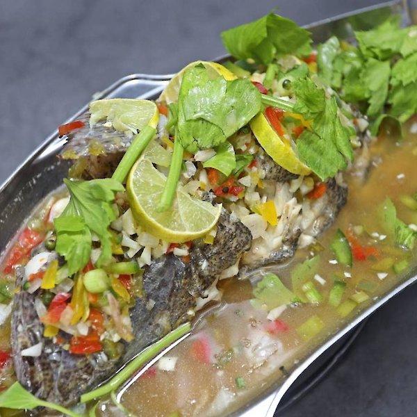 Steamed Grouper with Lemon Sauce