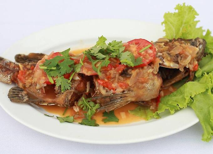 Deep Fried Grouper with Chili Sauce