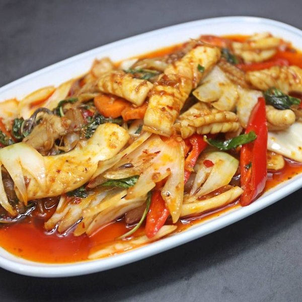 Stir-Fried Squid with Chili Paste