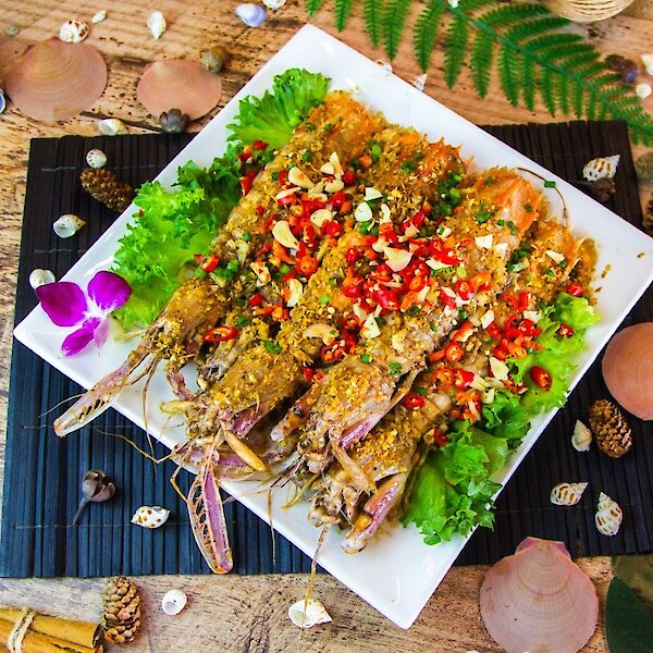 Roasted Spicy Salty Mantis Shrimp