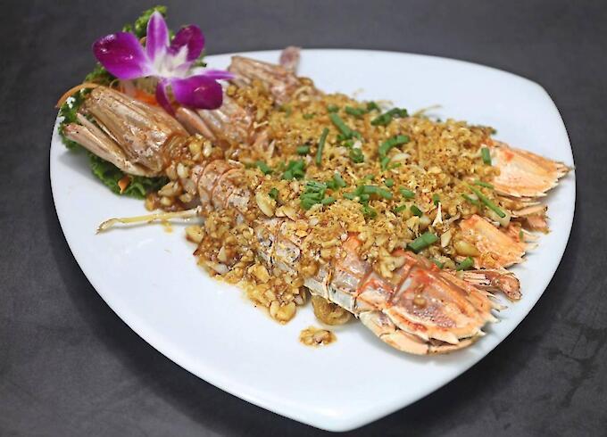 Deep-Fried Mantis Shrimp with Garlic
