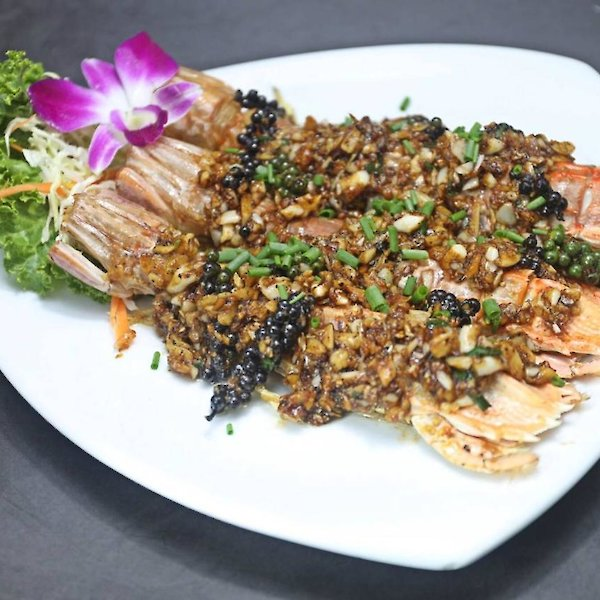 Deep-Fried Mantis Shrimp with Black Pepper