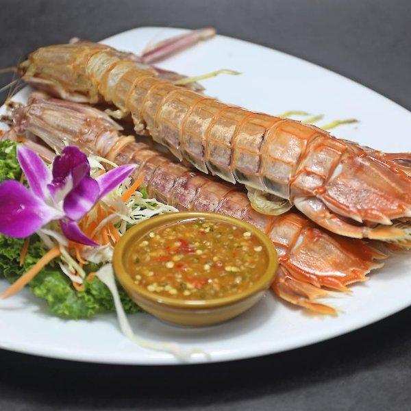 Steamed Mantis Shrimp