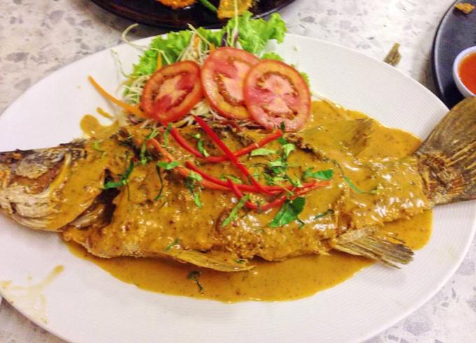 White sea bass Panang Curry